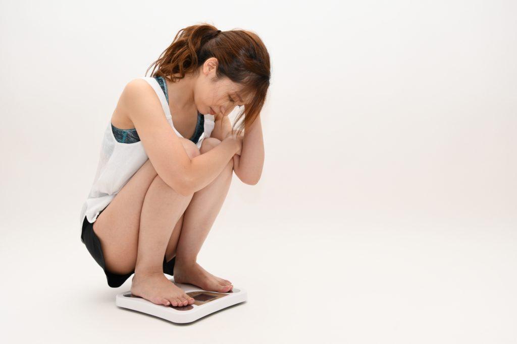 体重が減らない女性
