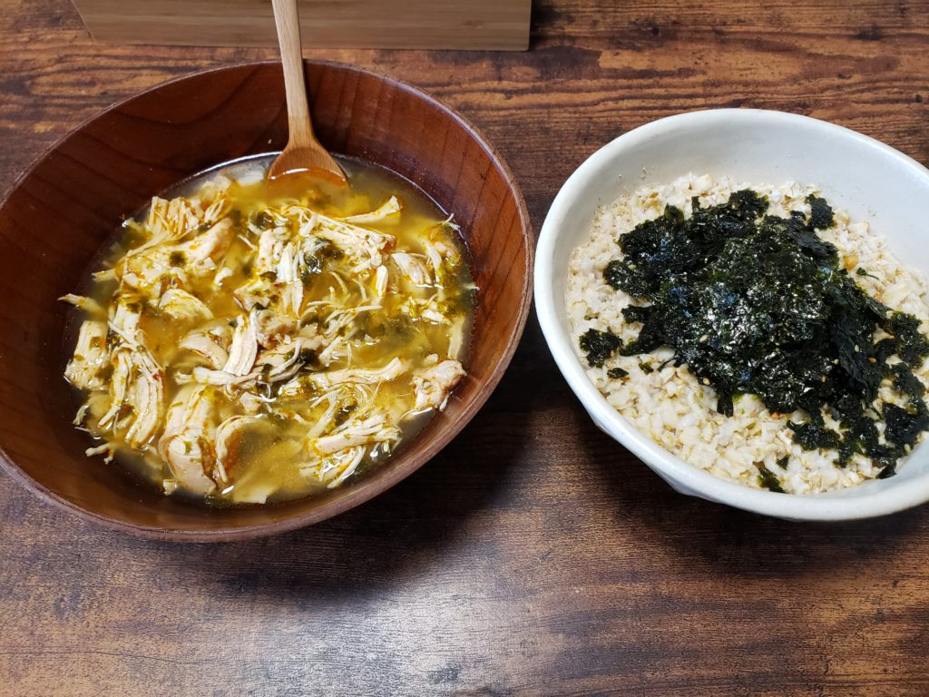 サムゲタンスープとオートミール